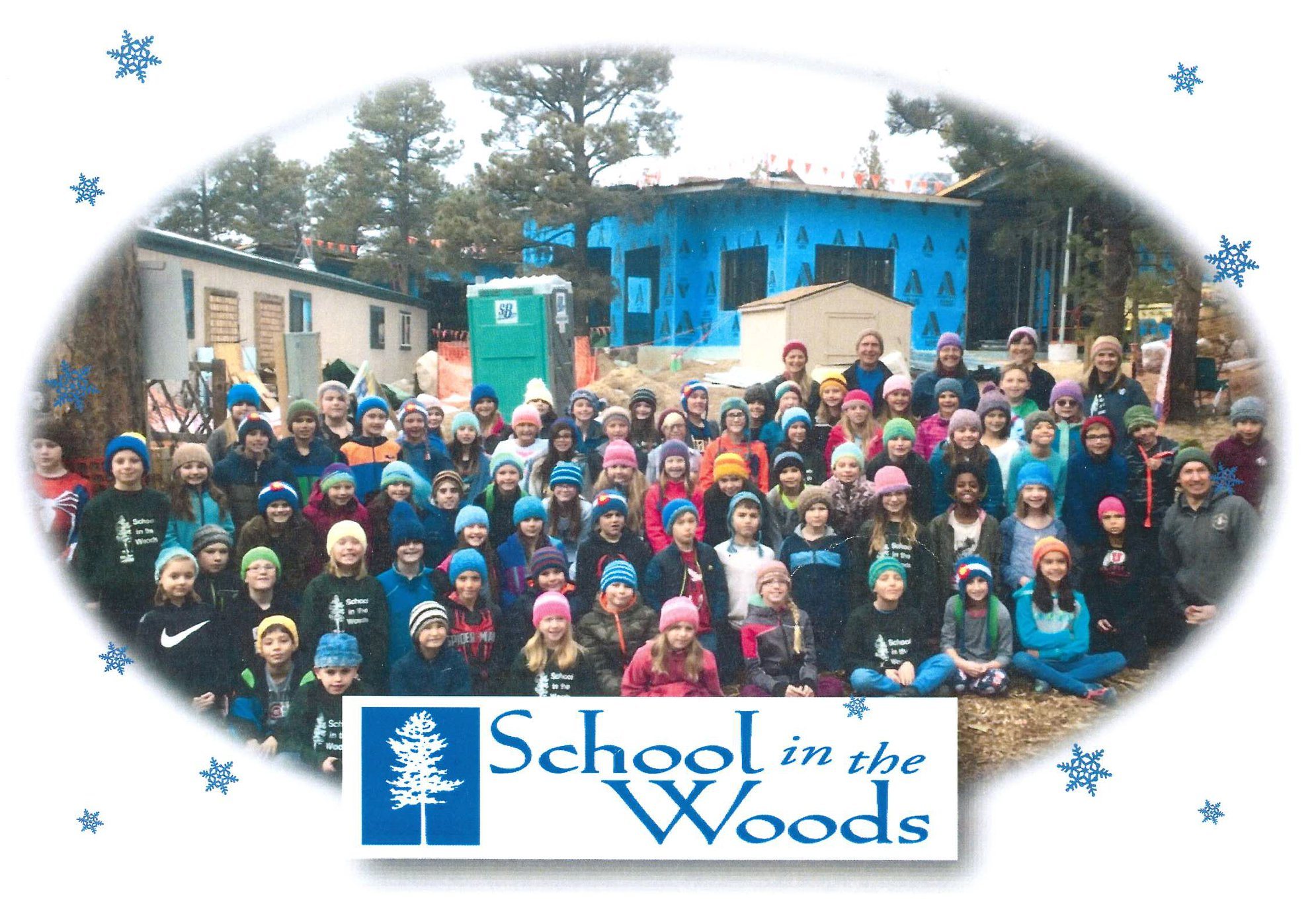 17045.00 School In The Woods HolidayCard2018