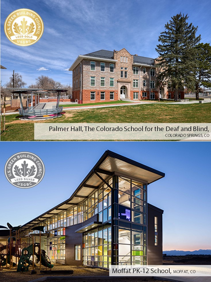 2020 LEED Green Schools Award Collage